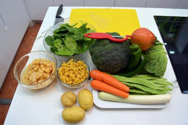 Sopa de vegetales para dieta