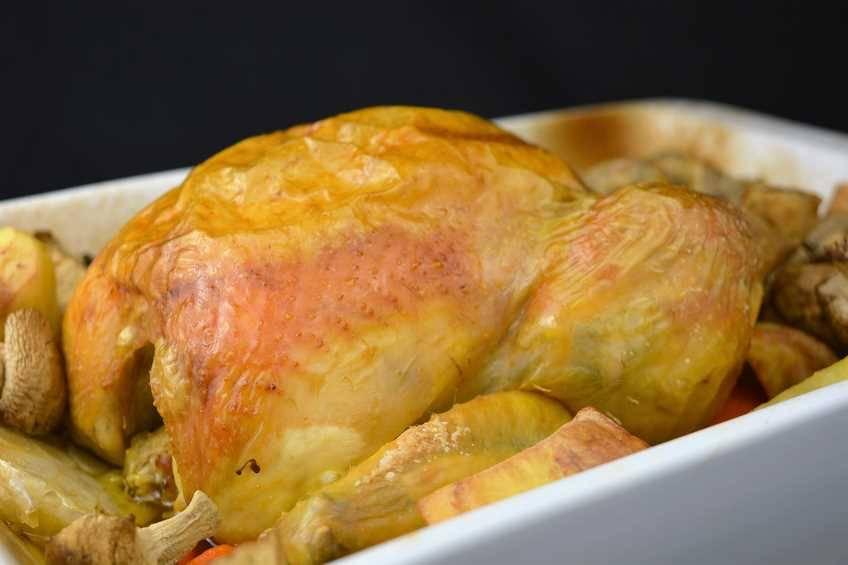 Paso 4 de Receta de pollo asado al brandy con su guarnición