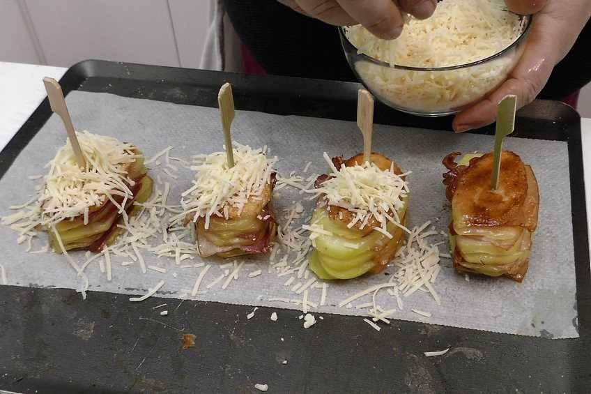 Paso 3 de Milhojas de patata con beicon