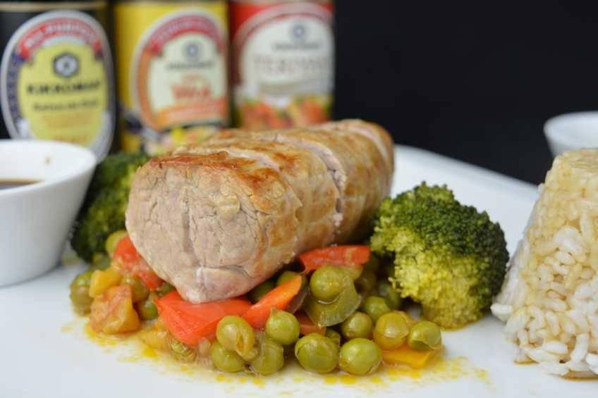 Paso 9 de Solomillo de cerdo con salsa teriyaki y verduras