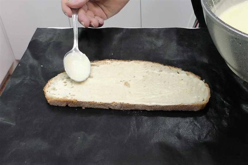 Paso 4 de Sándwich Croque Monsieur gigante