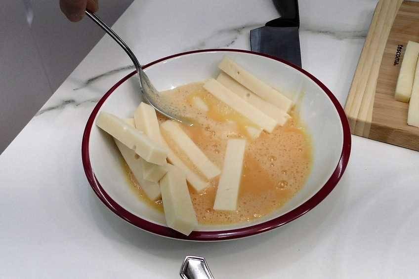 Paso 2 de Fingers de queso caseros