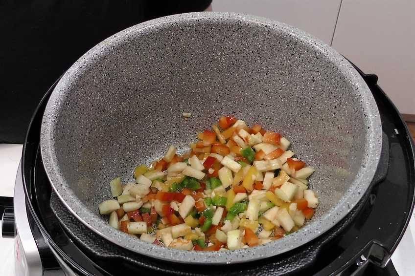 Paso 1 de Arroz con pollo y verduras en la Olla GM
