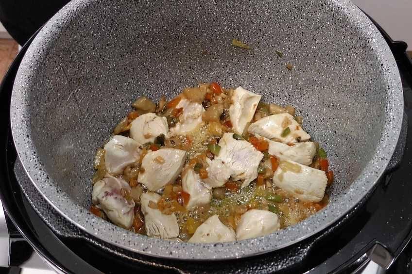 Paso 2 de Arroz con pollo y verduras en la Olla GM