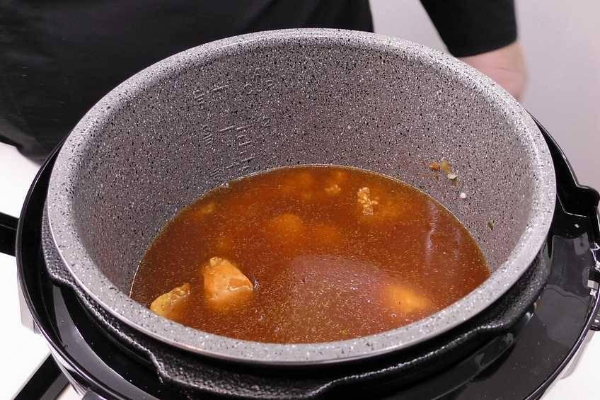 Paso 4 de Arroz con pollo y verduras en la Olla GM