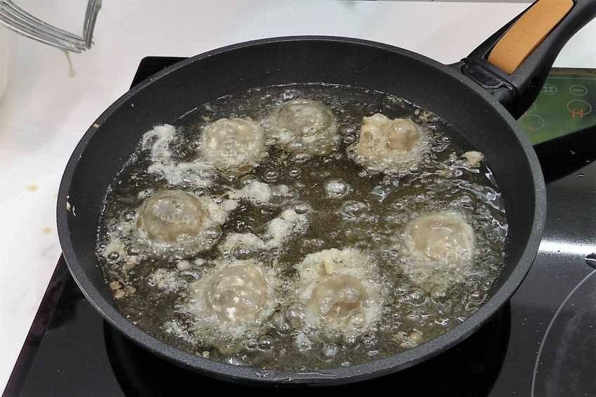Paso 4 de Receta de alcachofas rebozadas con foie cocidas al punto