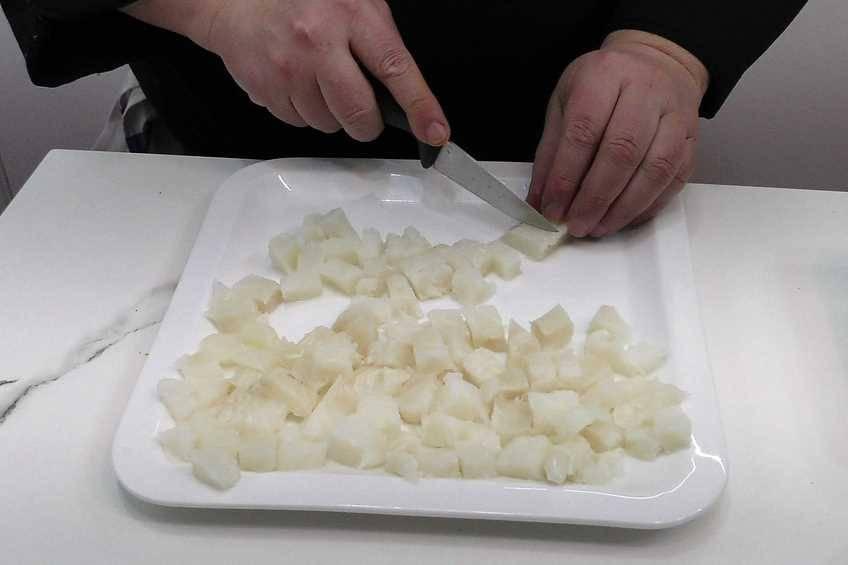 Paso 3 de Paella de arroz con bacalao a la riojana