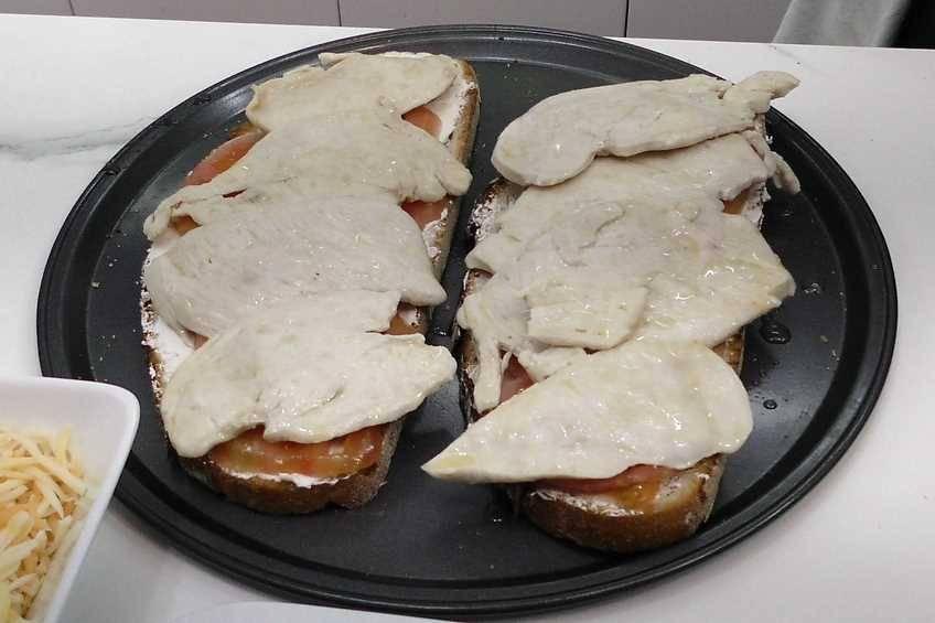 Paso 3 de Sándwich de Cocina Familiar