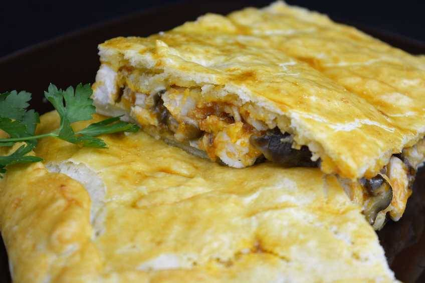 Paso 8 de Empanada de pollo con masa crujiente
