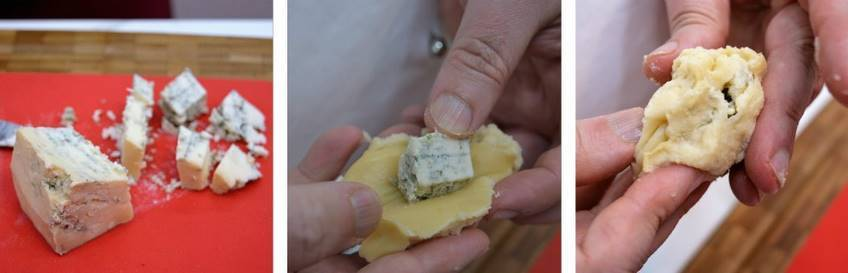 Paso 3 de Croquetas rellenas con queso de cabrales