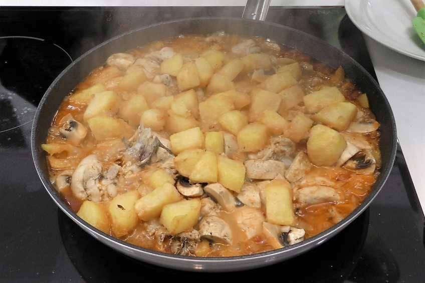Paso 6 de Recetas para dieta, pollo a la campesina