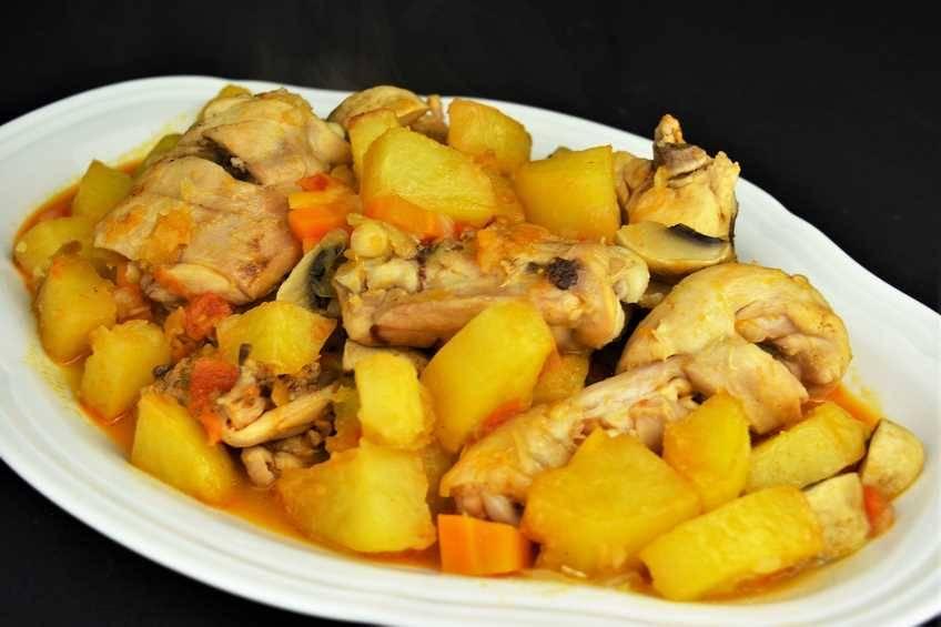 Dieta de pollo y melocoton