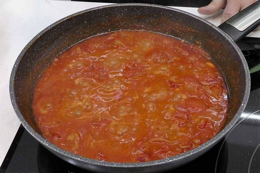 Paso 3 de Salsa de tomate frito, receta casera