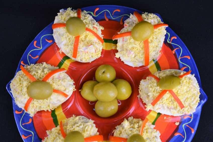 Paso 4 de Huevos rellenos de marisco