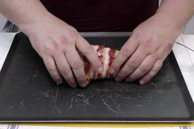 Paso 3 de Pechuga de pollo rellena