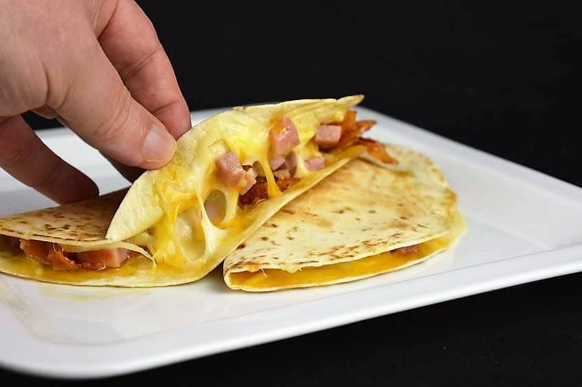 Paso 5 de Quesadillas de jamón y queso