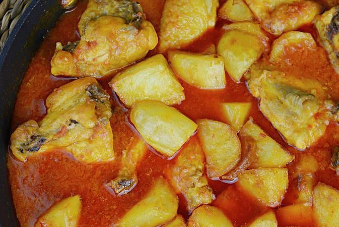 Paso 7 de Receta de pollo en salsa a la riojana con patatas