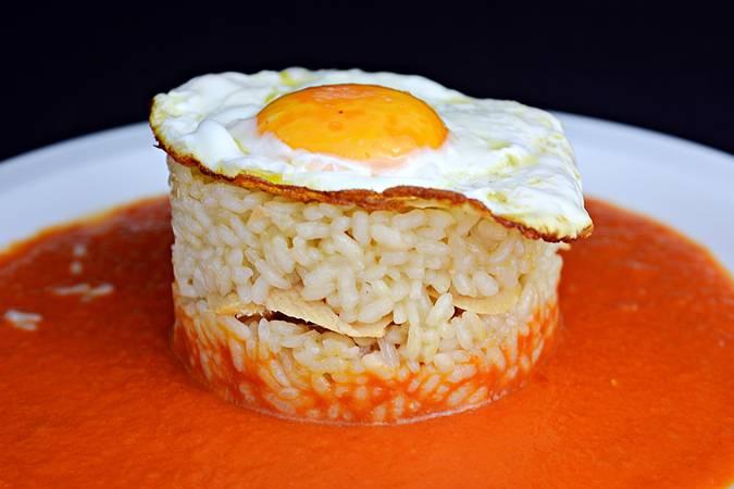 Paso 6 de Pastel de arroz con atún