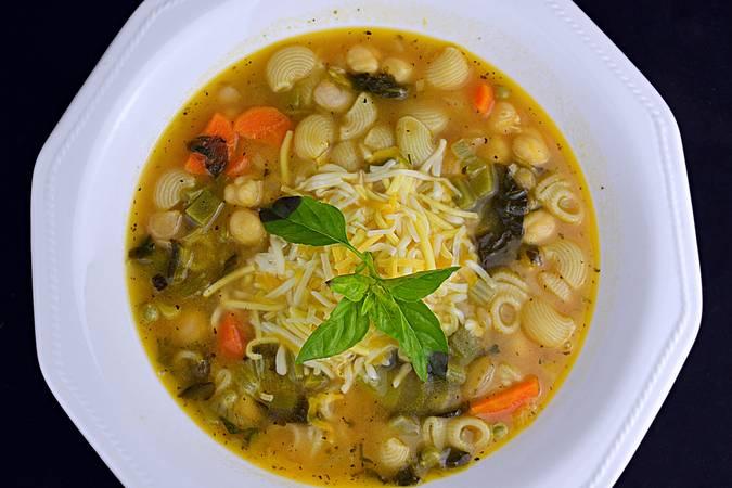 Paso 7 de Sopa minestrone
