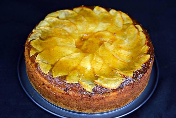 Paso 7 de Tarta de queso y manzana, éxtasis de sabores