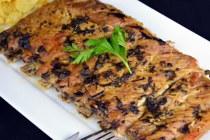 Paso 5 de Costilla de cerdo asada con salsa chimichurri
