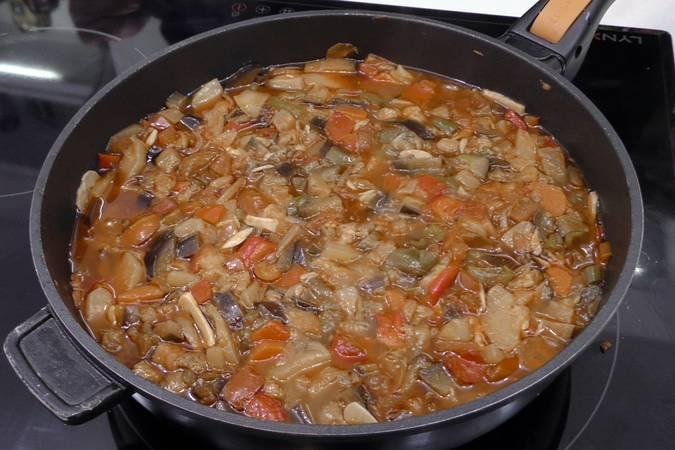 Paso 5 de Samfaina de verduras