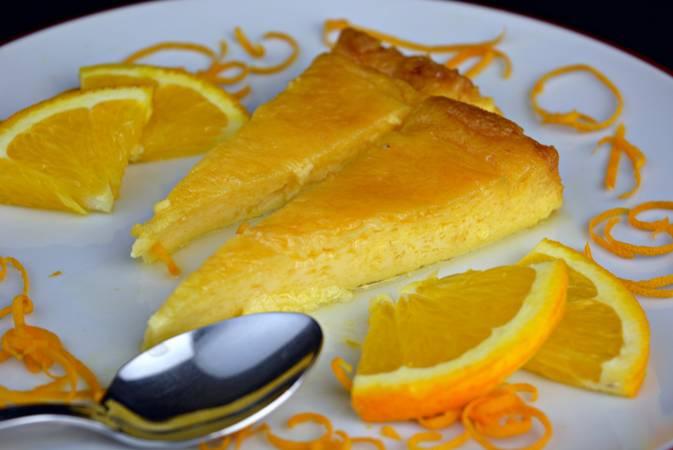 Paso 8 de Flan de naranja con caramelo casero
