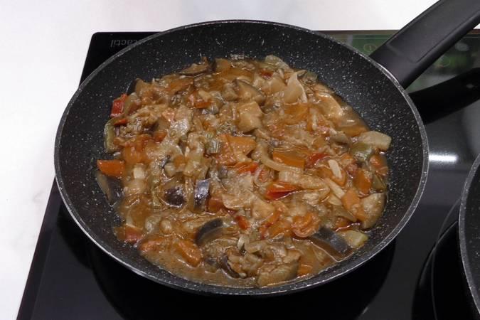 Paso 1 de Bacalao con samfaina de verduras
