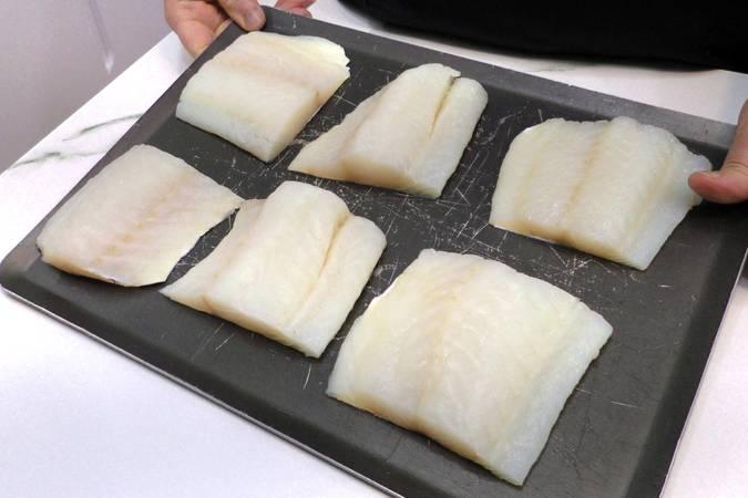 Paso 2 de Bacalao con samfaina de verduras
