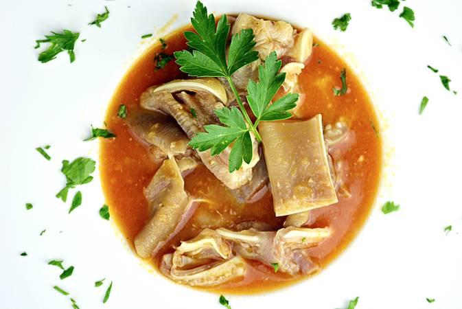 Paso 6 de Oreja de cerdo en salsa picante
