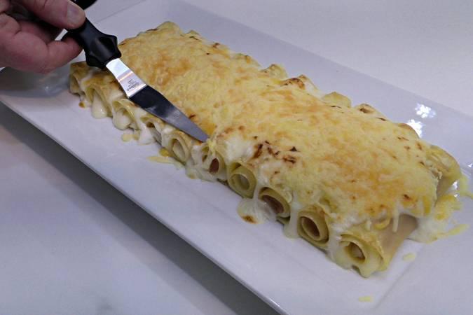 Paso 6 de Lasaña de jamón y queso gratinada