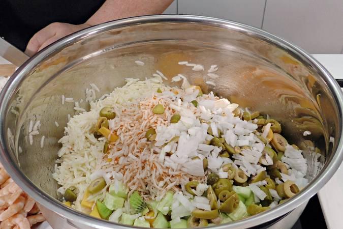 Paso 3 de Ensalada de arroz muy nutritiva