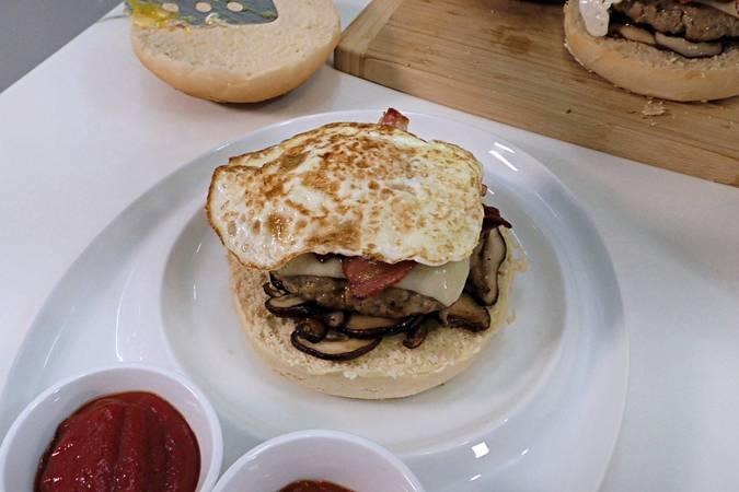 Paso 6 de Hamburguesa campera con pan casero