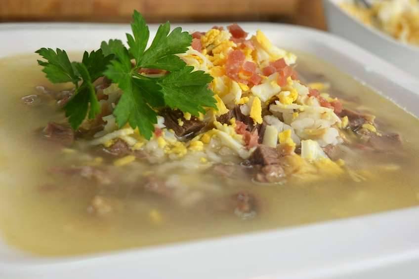 Paso 4 de Sopa de arroz con picadillo