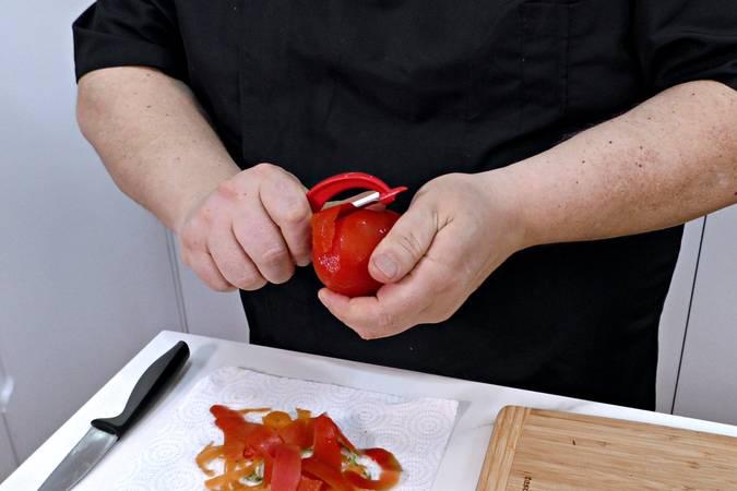 Paso 3 de Judías verdes con tomate y patata