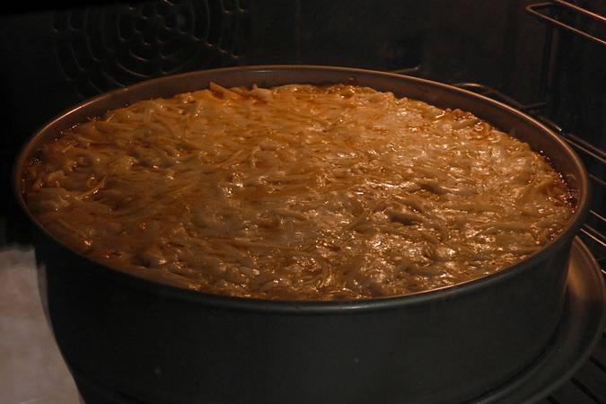 Paso 9 de Pastel de pollo y patata gratinado con 4 quesos