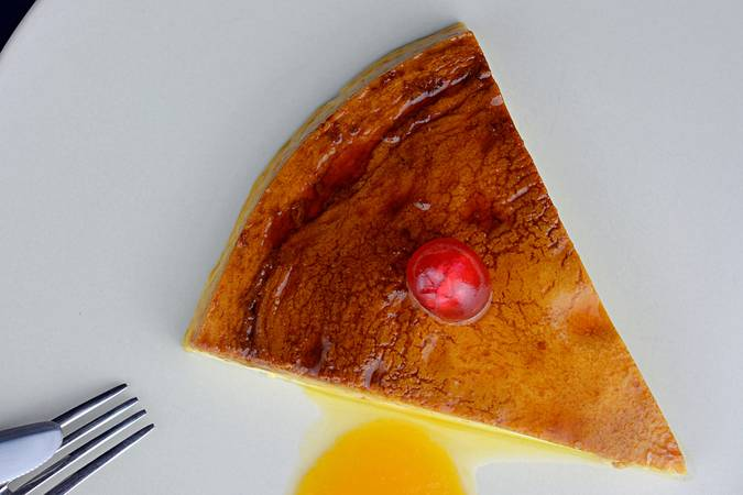 Ya hemos terminado la tarta de queso al microondas