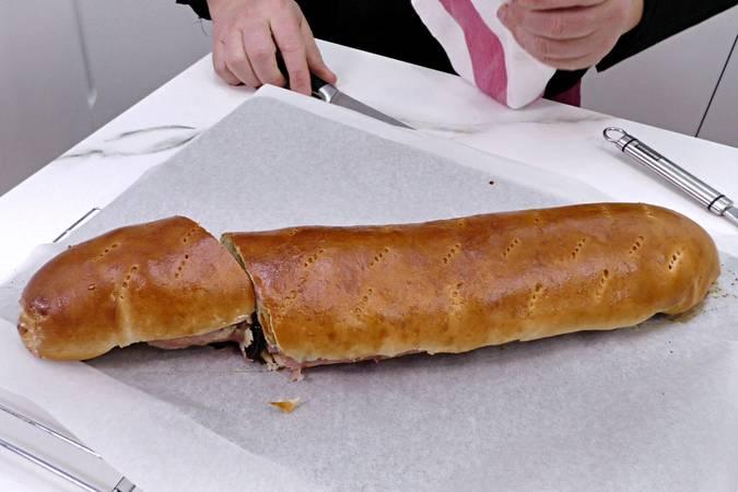 Paso 9 de Pan de jamón venezolano