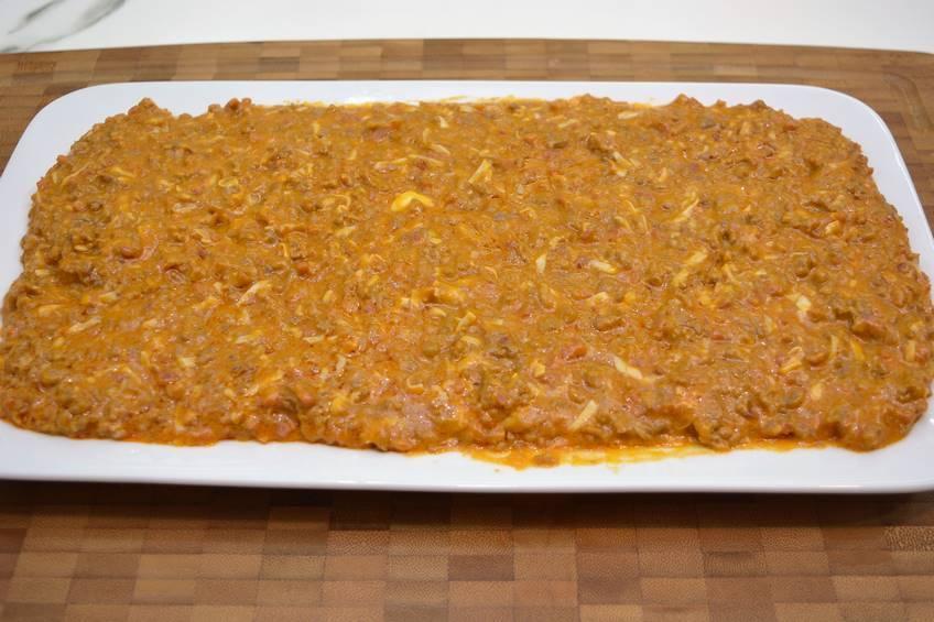 Paso 3 de Receta de pimientos rellenos de carne con salsa de cebolla