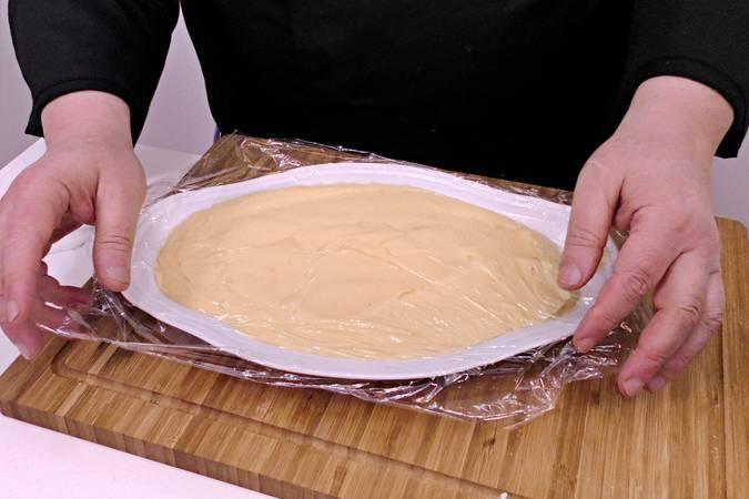Paso 2 de Tarta de plátano con crema de queso