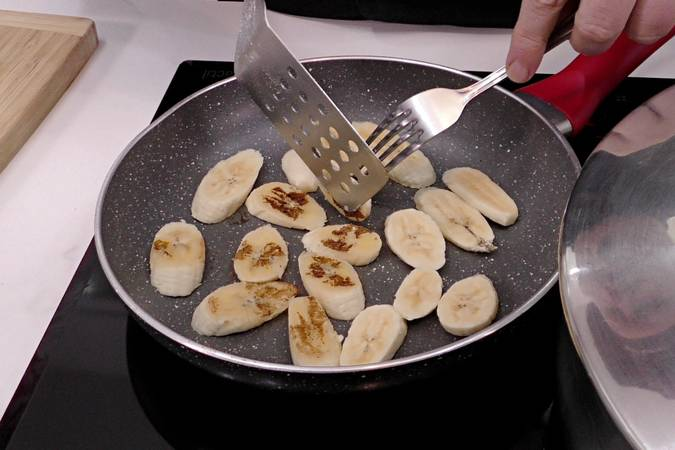 Paso 9 de Tarta de plátano con crema de queso