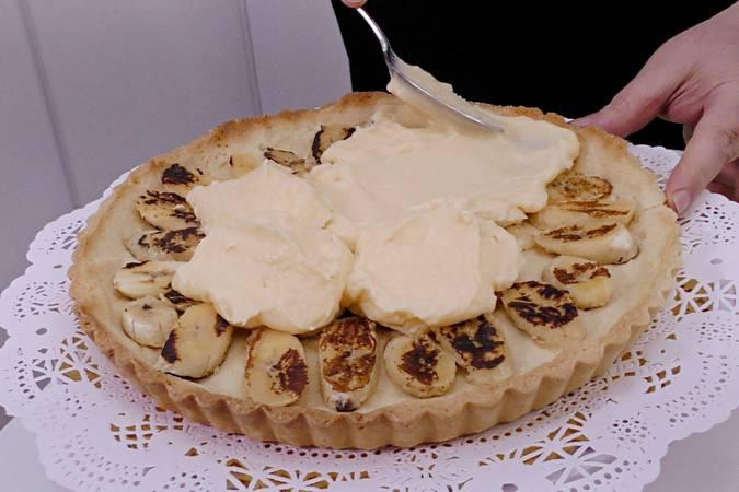 Paso 10 de Tarta de plátano con crema de queso