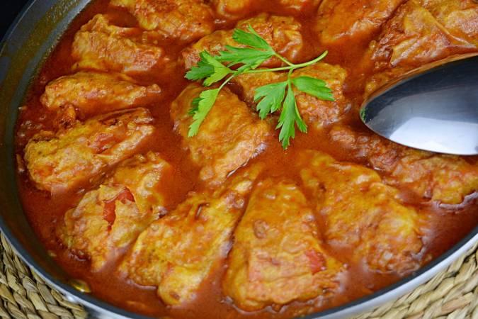 Paso 8 de Pimientos rellenos de carne con salsa de tomate
