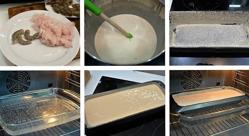 Paso 4 de Pastel de merluza y langostinos