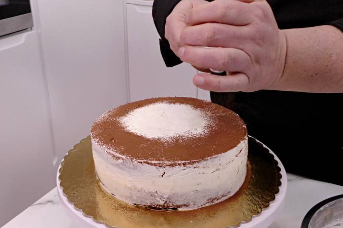 Paso 11 de Pastel de tiramisú