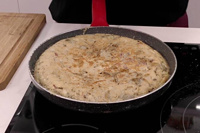 Terminamos de cocinar la tortilla