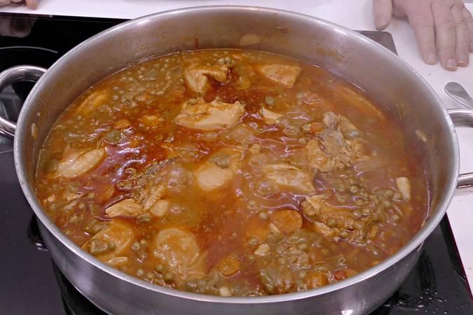 Paso 7 de Receta de pollo a la jardinera, cocina española