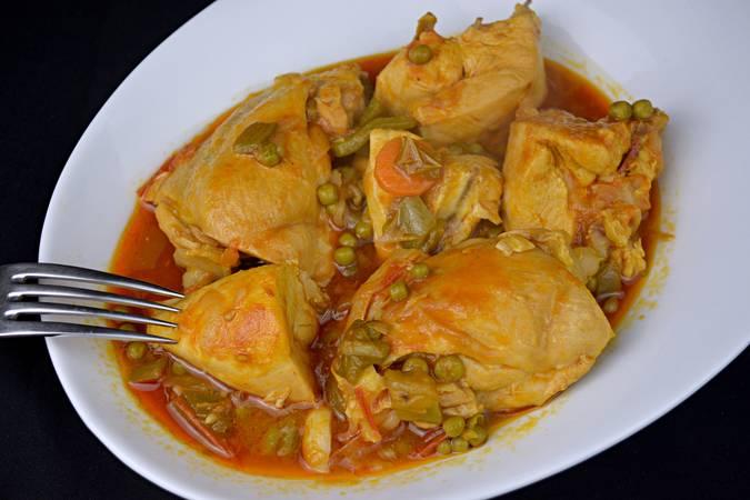 Paso 8 de Receta de pollo a la jardinera, cocina española
