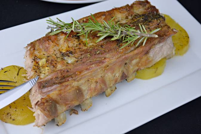 Paso 6 de Costilla de cerdo al horno con patatas