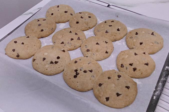 Dejar enfriar las cookies americanas